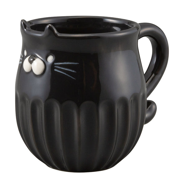 Cat Shinogi Mug - Black