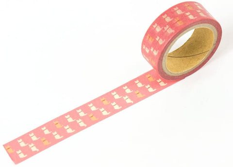 Cat Pink Washi Tape - 15mm