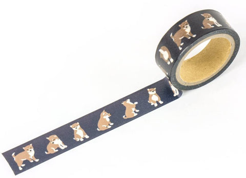 Shiba Dog Navy Washi Tape - 15mm