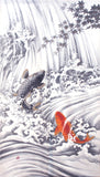 Noren - Koi Fish Climbing Waterfall