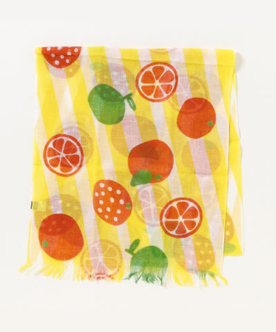Cotton Linen Stole - Orange