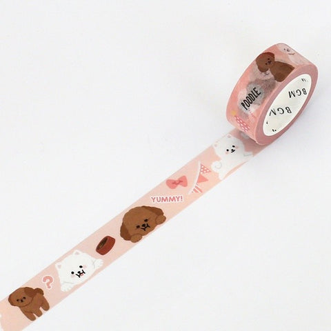 Poodle Washi Tape - 15mm