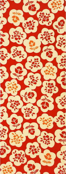 Retro Flower Tenugui Towel