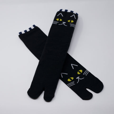 Black Cat Tabi Socks