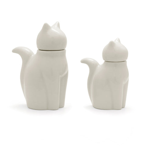 Soy Sauce Pot - White Cat L