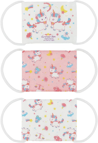 Kids Cotton Face Mask Unicorn 3P Set