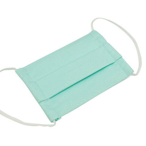 Kids Cotton Face Mask Mint Blue