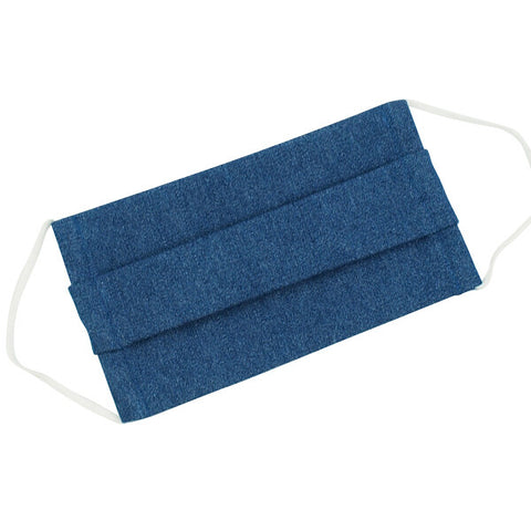 Cotton Face Mask Denim Blue