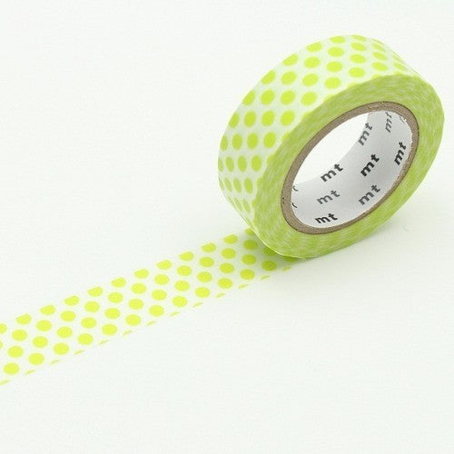 Dot Lime Green Washi Tape - 15mm