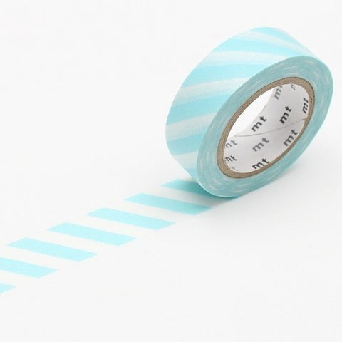 Stripe Mint Blue Washi Tape - 15mm