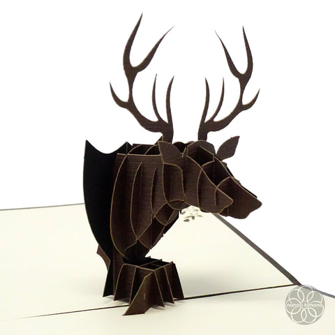 3D Pop-up Card - Deer Head