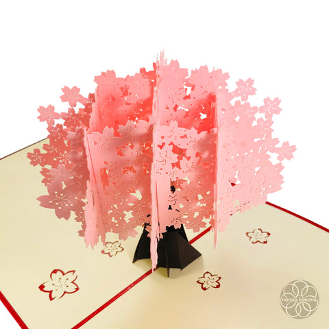3D Pop-up Card - Cherry Blossom Full