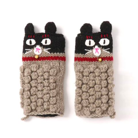 Arm Warmer Cat Black/Grey
