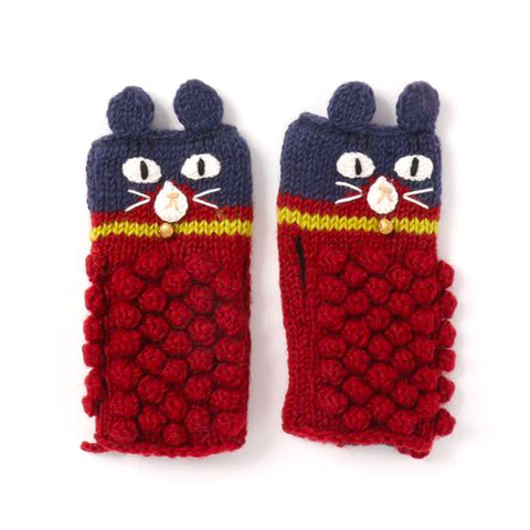 Arm Warmer Cat Navy/Red
