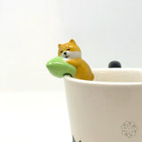 Hanging Spoon - Shiba Dog w Green Pillow