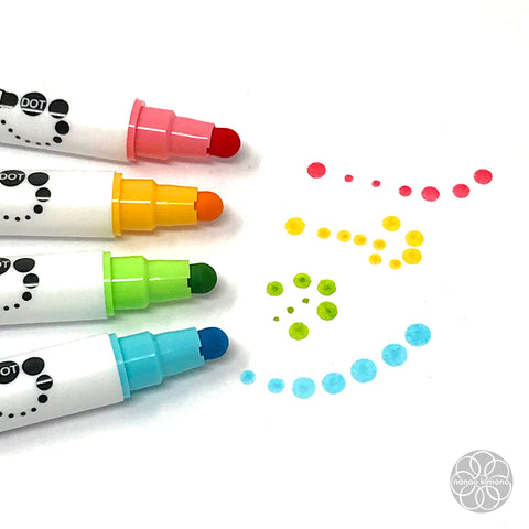 ZIG Clean Color Dot Pen - A set of 4 colours