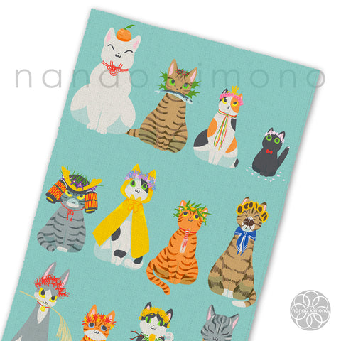 Tea Towel - Japanese Calendar Cats
