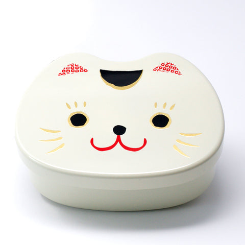 Cat Face White Bento Box 500ml