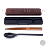Chopsticks/Spoon & Case - Mokume