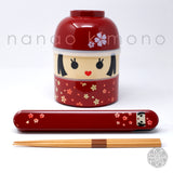 Chopsticks & Case - Kokeshi Hanako