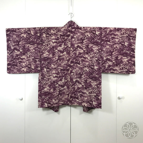 Vintage Haori Kimono Purple - Traditional Houses