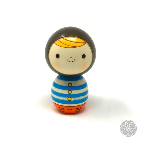 Kokeshi Doll - Black Riding Hood