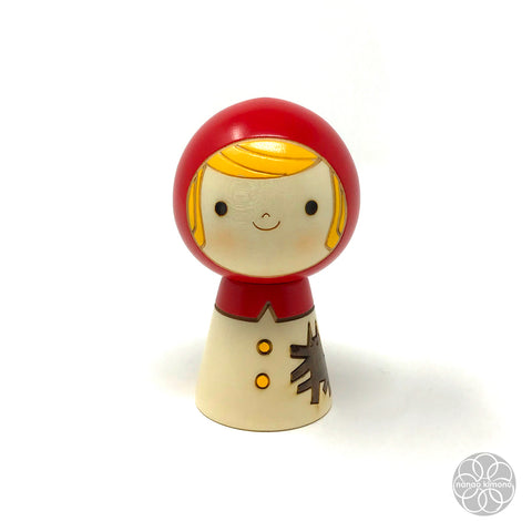 Kokeshi Doll - Red Riding Hood