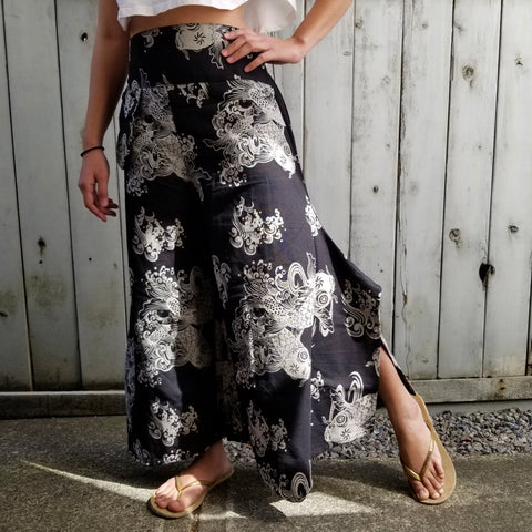 Wide Leg Pants - Black Koi