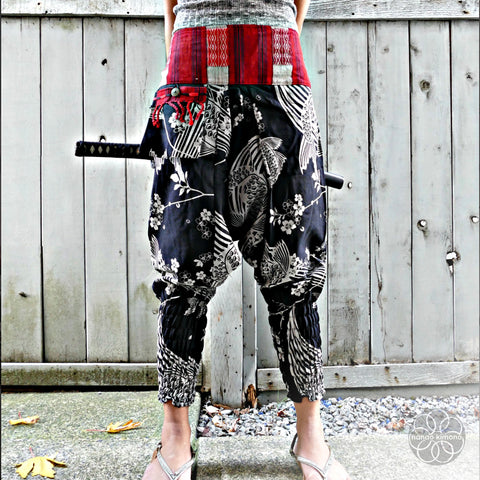 Ninja Pants - Sakura Koi Fish Black