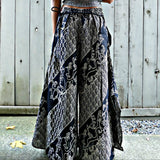 Wide Leg Pants - Black Two Waves