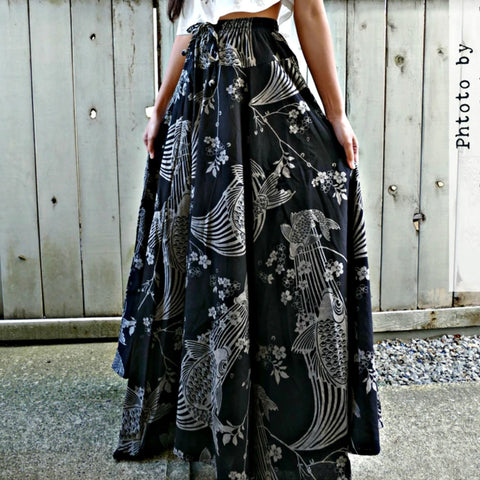 Long Skirt - Sakura Koi Fish