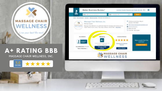 Massage Chair Wellness, Inc. Earns A+ BBB Rating