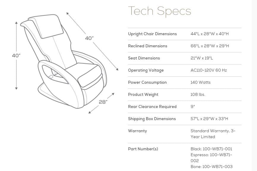 Whole Body 7.1 Tech Specs
