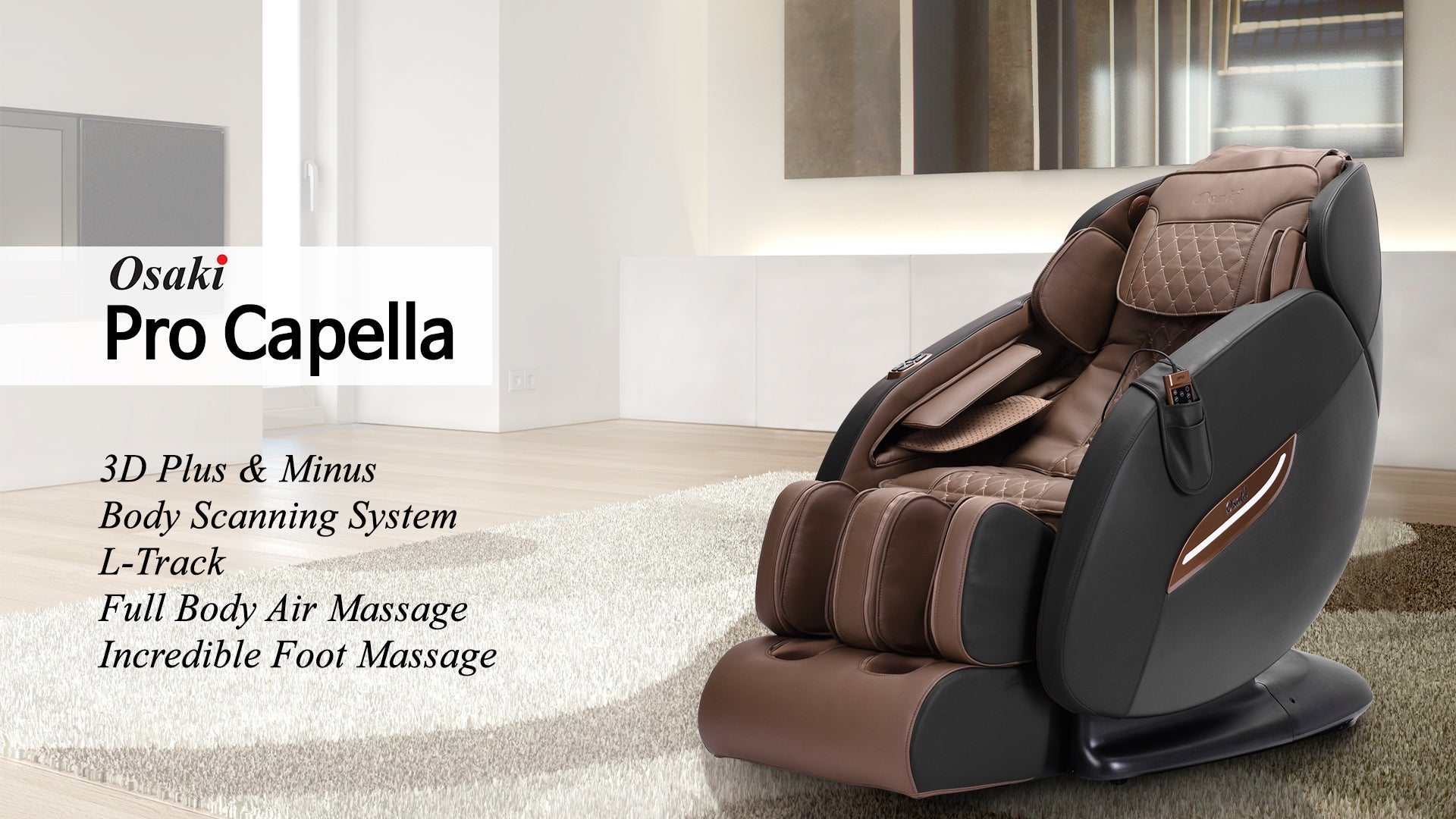 Osaki OS-Pro Capella 3D LTrack Massage Chair