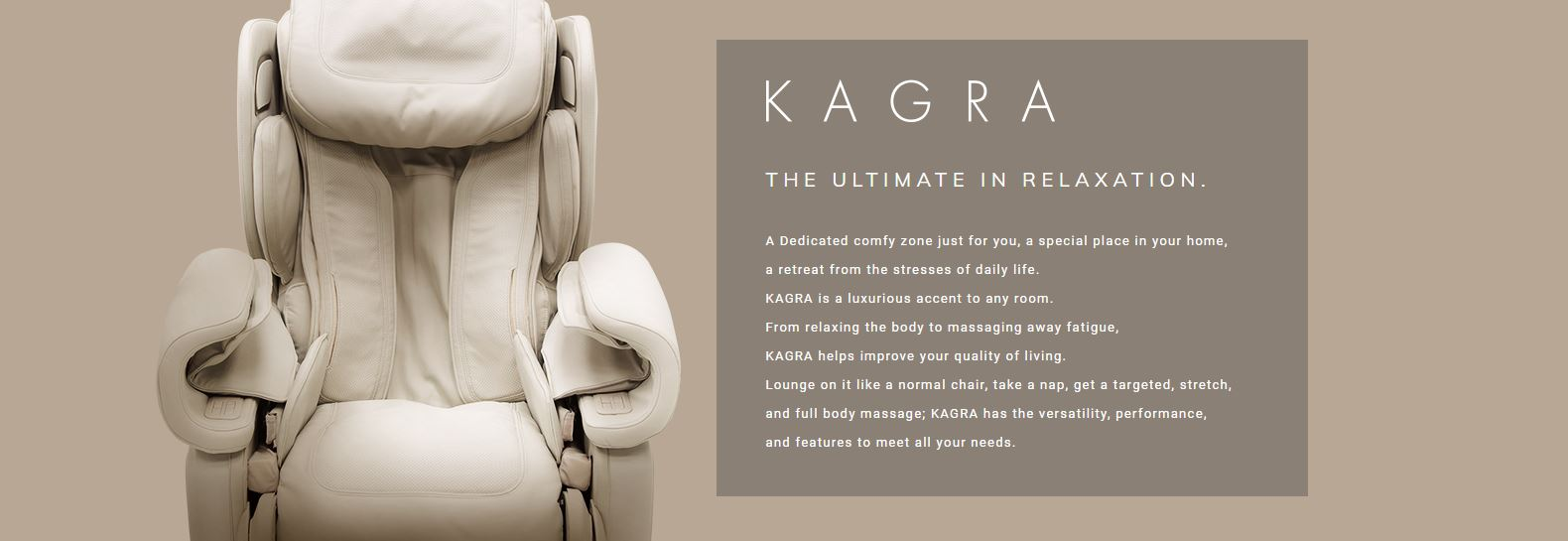 Kagra Massage Chair Features