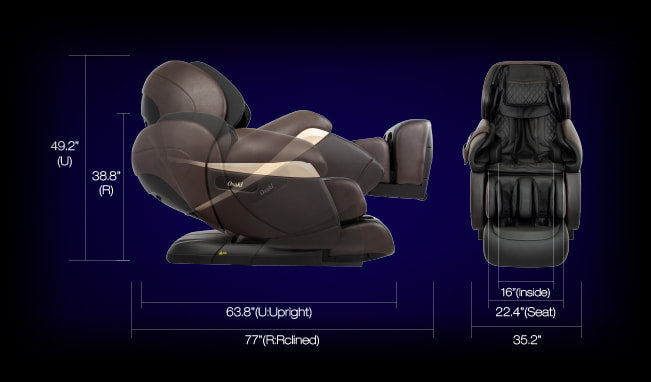 Osaki OS-Pro Paragon Massage Chair Dimensions