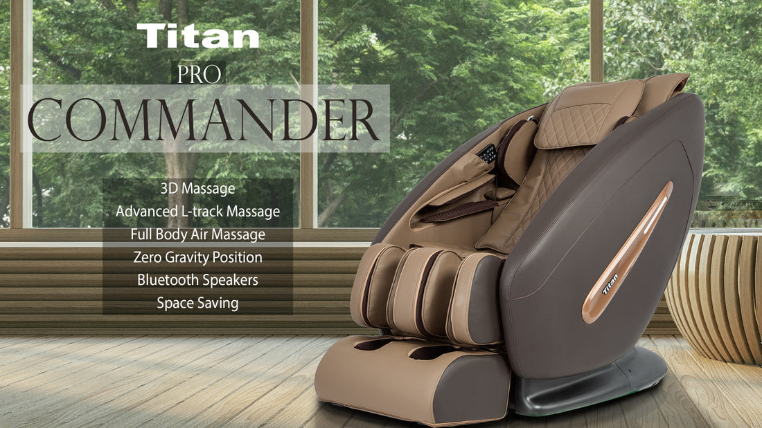 Titan TP-Pro Commander Massage Chair 3D L-Track