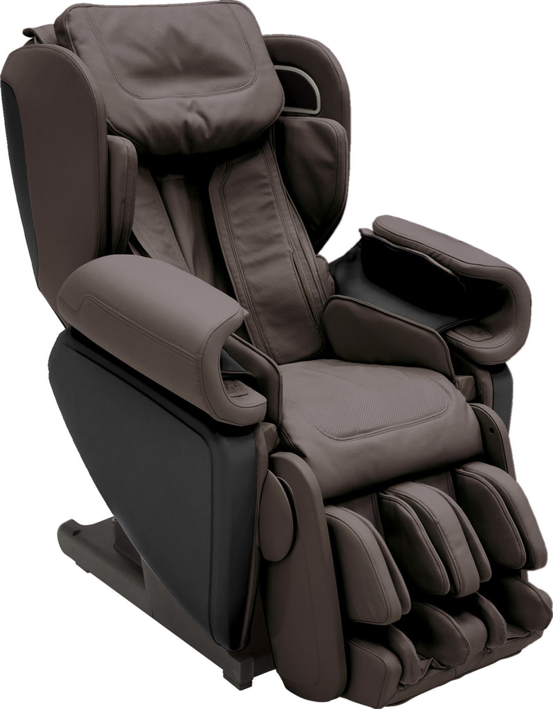 Synca Kagra 4D Massage Chair Brown Used Side View (1567264473178)