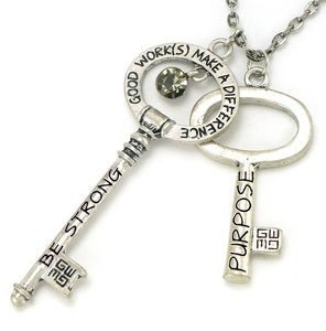 "Anointed Keys ""Purpose, Be Strong"" Necklace"