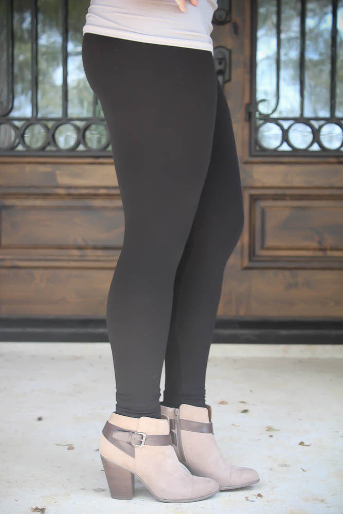 High Waist Solid Leggin