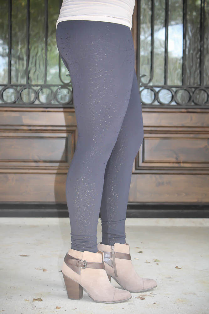 High Waste Sparkle Print Legging