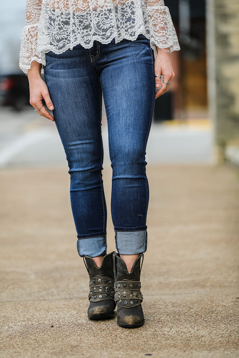 Dark Wash Denim Jeans