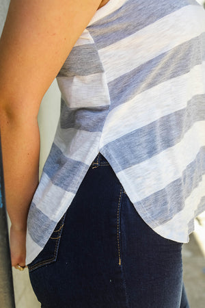 Striped V-Neck Tank