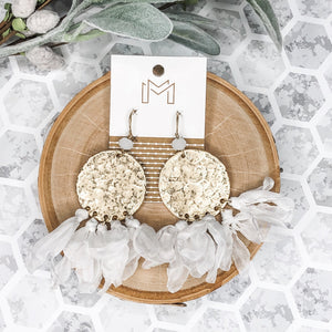 White - Cleo Earrings