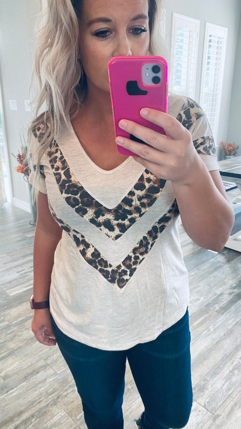 Addison Animal Chevron Top