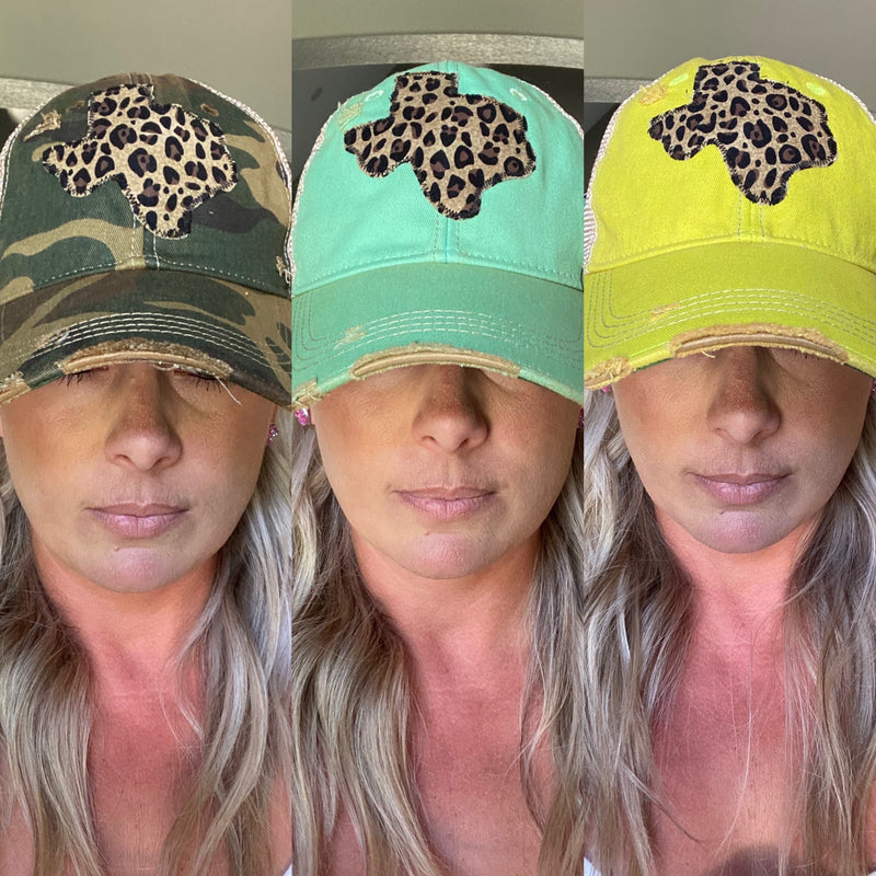 Leopard Dirty Trucker Hat