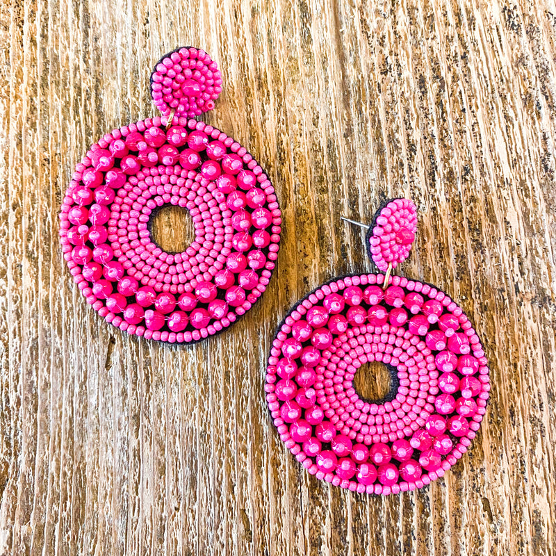 Beaded around Earrings