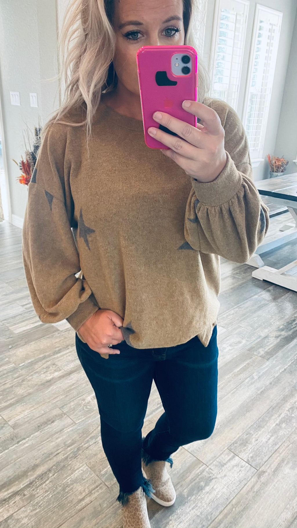 Cashmere Brushed Star Top