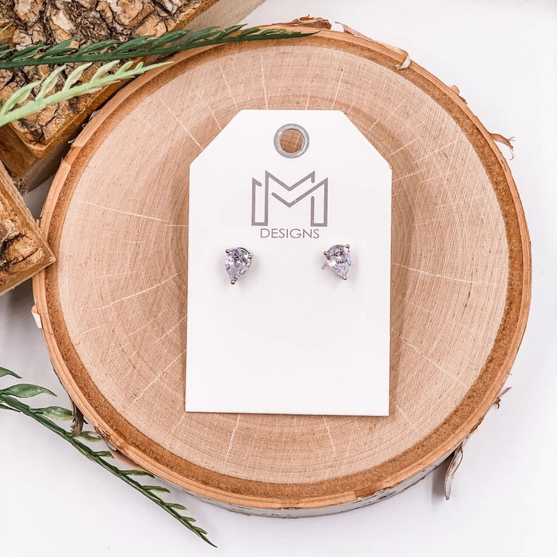 Maddox Stud Earring - White Gold