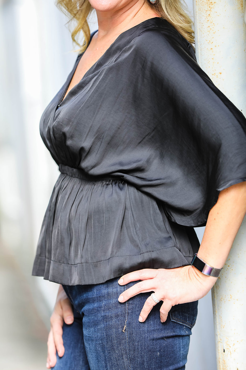 Peplum Top- Black